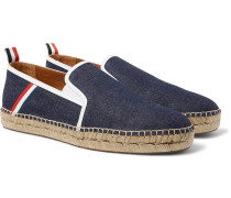 Grosgrain-trimmed Denim Espadrilles