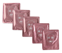 Rose Gold Brightening Facial Treatment Mask, 5 x 30ml