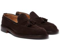 Elton Suede Tasselled Loafers - Brown