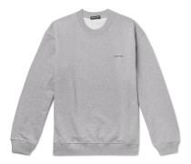 Logo-Print Loopback Cotton-Jersey Sweatshirt