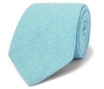 9cm Mélange Textured-Cashmere Tie
