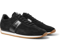 Orford Leather-trimmed Suede Sneakers