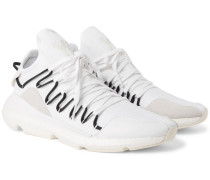 Kusari Leather, Suede And Mesh-trimmed Neoprene Sneakers
