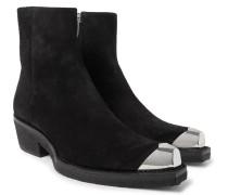 Metal Toe-cap Suede Boots