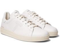 Warwick Perforated Full-Grain Leather Sneakers