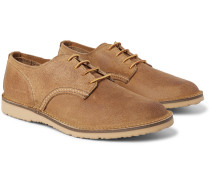 Weekender Textured-leather Derby Shoes