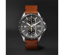 Clifton Club Indian Legend Tribute Scout Chronograph 44mm Stainless Steel and Leather Watch, Ref. No. M0A10402
