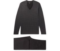Cotton And Modal-blend Jersey Pyjama Set