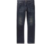 Grim Tim Organic Stretch-denim Jeans - Dark denim