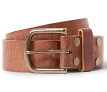 4cm Tan Leather Belt - Tan