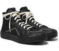 V1 Leather-Trimmed Nylon High-Top Sneakers