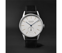 At Work Orion Neomatik Automatic 39mm Stainless Steel and Leather Watch, Ref. No. 340