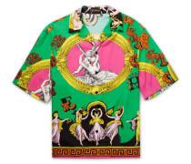 Camp-collar Printed Woven Shirt