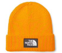 Logo-appliquéd Ribbed-knit Beanie - Orange
