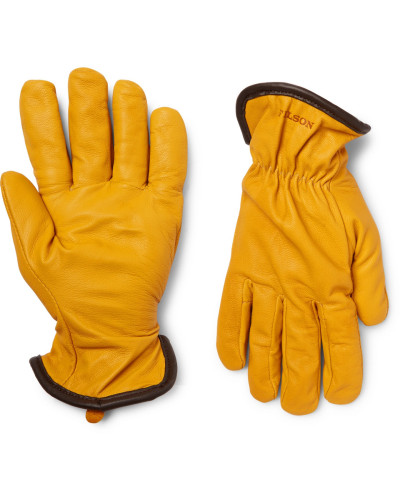 Merino Wool-lined Full-grain Leather Gloves