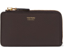 Full-grain Leather Zipped Cardholder - Brown