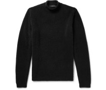 Merino Wool-blend Rollneck Sweater - Black