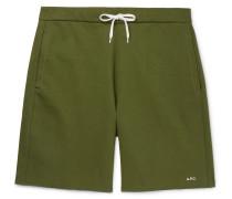 Loopback Cotton-jersey Sweat Shorts - Green