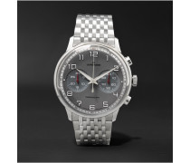 Meister Driver Chronoscope 40mm Stainless Steel Watch - Silver