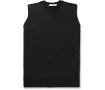 Mélange Wool, Cashmere and Silk Sweater Vest