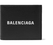 Logo-print Textured-leather Billfold Wallet