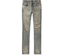Skinny-fit Distressed Stretch-denim Jeans