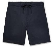 Linen Drawstring Shorts - Midnight blue