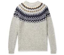 Birnir Fair Isle Brushed-wool Sweater