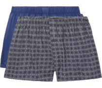 Two-pack Cotton Boxer Shorts - Blue