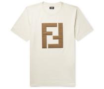 Logo-appliquéd Cotton-jersey T-shirt - White