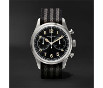 1858 Automatic Chronograph 42mm Stainless Steel And Nato Webbing Watch - Black