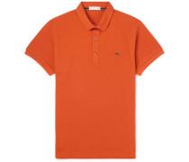 Cotton-piqué Polo Shirt - Orange
