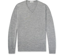 Blenheim Mélange Merino Wool Sweater - Gray