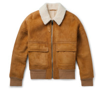 York Shearling Bomber Jacket - Brown