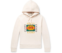 Printed Loopback Cotton-jersey Hoodie - Cream