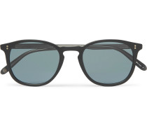 Kinney 49 Square-frame Matte-acetate Sunglasses - Black