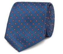 8cm Floral Silk-jacquard Tie - Navy