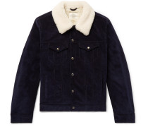 Scotney Slim-fit Shearling-trimmed Cotton-corduroy Trucker Jacket