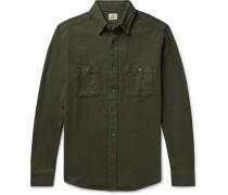 Cotton-flannel Shirt - Dark green