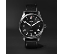 Big Crown Pro Pilot Automatic 41mm Stainless Steel And Leather Watch - Black