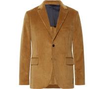 Camel Slim-fit Cotton-corduroy Suit Jacket - Camel