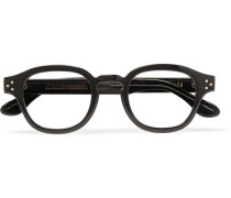 Round-frame Acetate Optical Glasses - Black