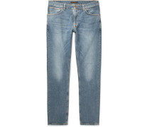 Lean Dean Slim-fit Tapered Organic Stretch-denim Jeans - Light denim
