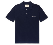 Slim-Fit Logo-Embroidered Virgin Wool Polo Shirt