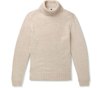 Cornelius Ribbed Merino Wool Rollneck Sweater - Cream
