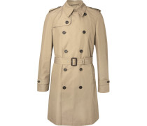 Cotton-blend Gabardine Trench Coat