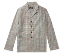 Checked Organic Cotton-Twill Blazer