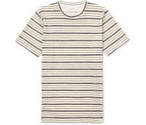 Niels Textured Striped Cotton-blend Jersey T-shirt