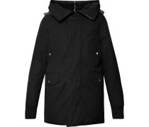 Cotton-Blend Canvas Hooded Down Jacket