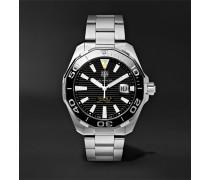 Aquaracer Automatic 43mm Steel Watch - Black